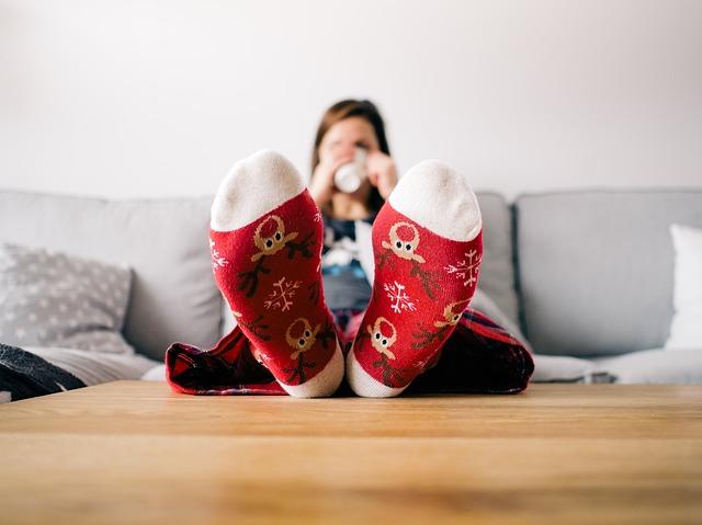 ponožky na vánoce