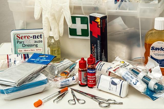 výbava lékárničky